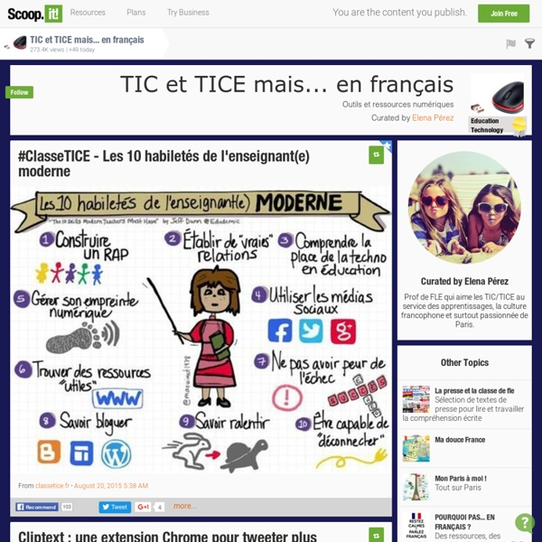 TIC et TICE mais... en français
