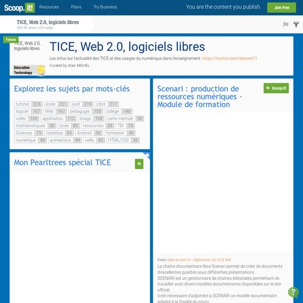 TICE, Web 2.0, logiciels libres