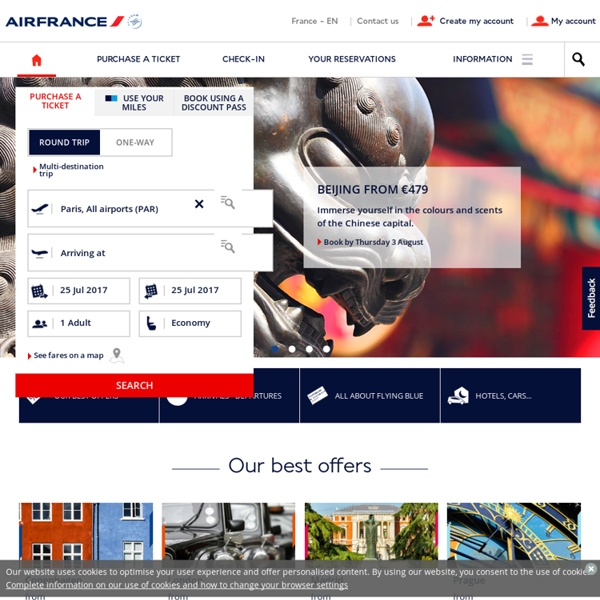 Cheap tickets Air France flights best fare to 800 destinations in the world