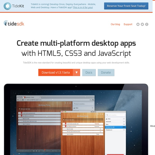 Create multi-platform desktop apps with HTML5, CSS3 and JavaScript