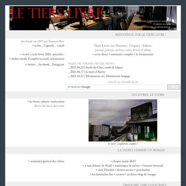 Le tiers livre, web & littérature