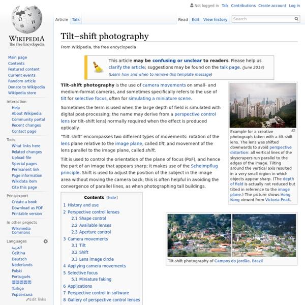 Tilt-shift nhiếp ảnh - Wikipedia tiếng Việt