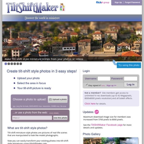 TiltShiftMaker - Transform your photos into tilt-shift style miniatures