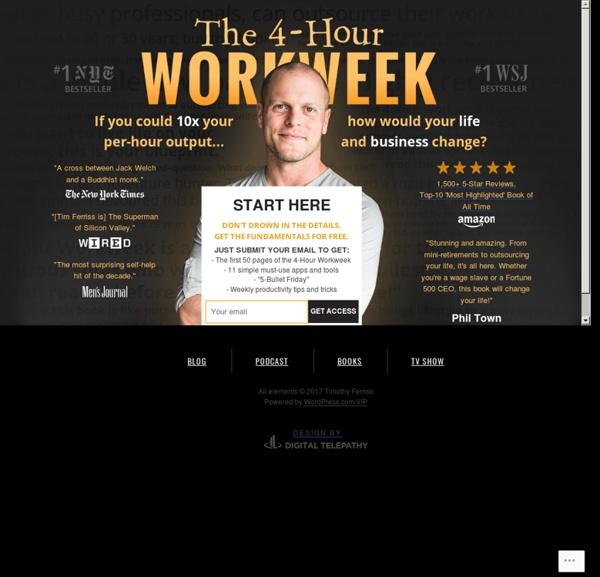 tim ferriss 4 hour work week