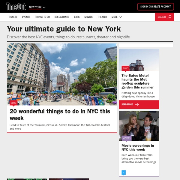 NYC Events, Activities & Things to Do - Time Out New York