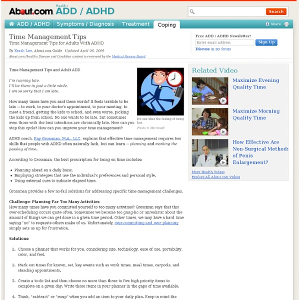Time Management Tips - Time Management Tips for ADHD