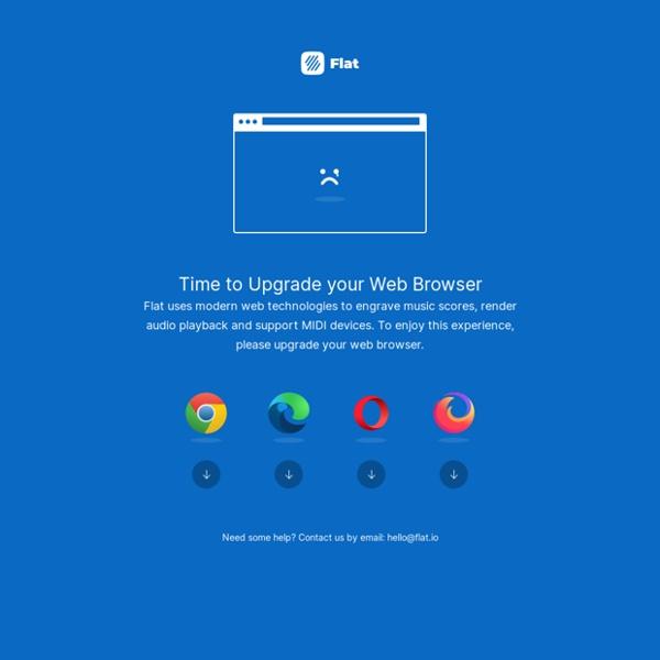 Flat. L'éditeur collaboratif de partitions de musique en ligne