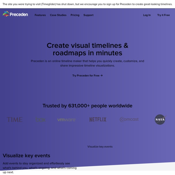 Timeglider: web-based timeline software
