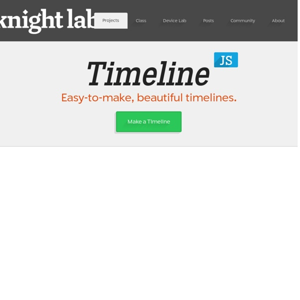 Timeline JS - Beautifully crafted timelines that are easy, and