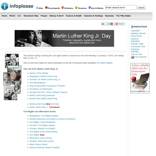 Martin Luther King Jr. Day: Facts, Timeline, History, Activities, Bio