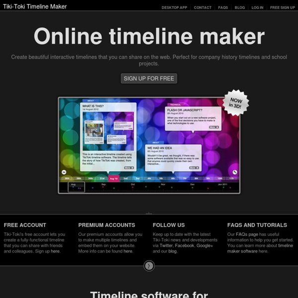 Beautiful web-based timeline software
