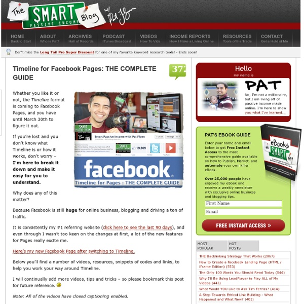 Timeline for Facebook Pages: THE COMPLETE GUIDE