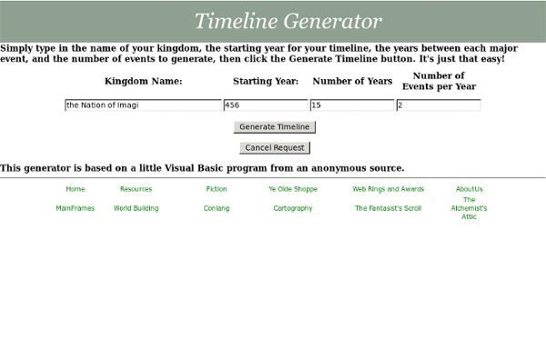 Timeline Generator
