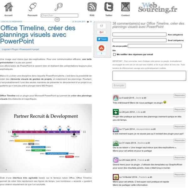 Office Timeline, créer des plannings visuels avec PowerPoint