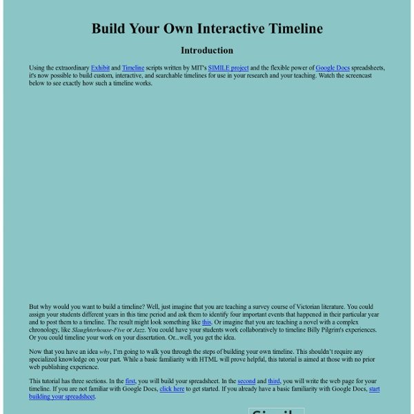 Timeline Tutorial: Introduction