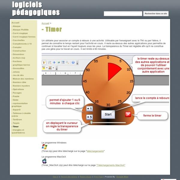 - Timer - logiciels pédagogiques