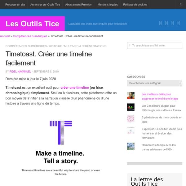 Timetoast. Créer une timeline facilement