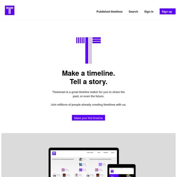 Timetoast timeline maker. Make a timeline, tell a story.
