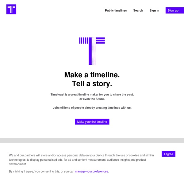 Create timelines, share them on the web