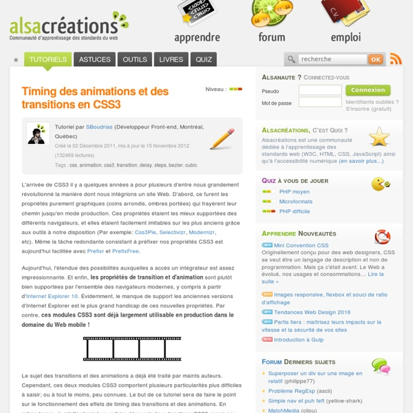 Timing des animations et des transitions en CSS3