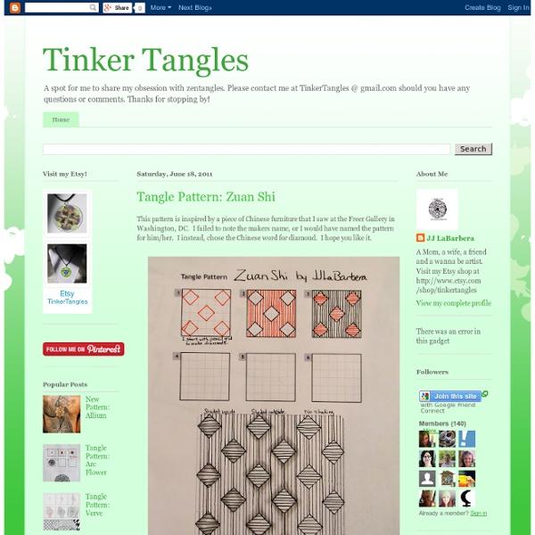Tangle Pattern: Zuan Shi