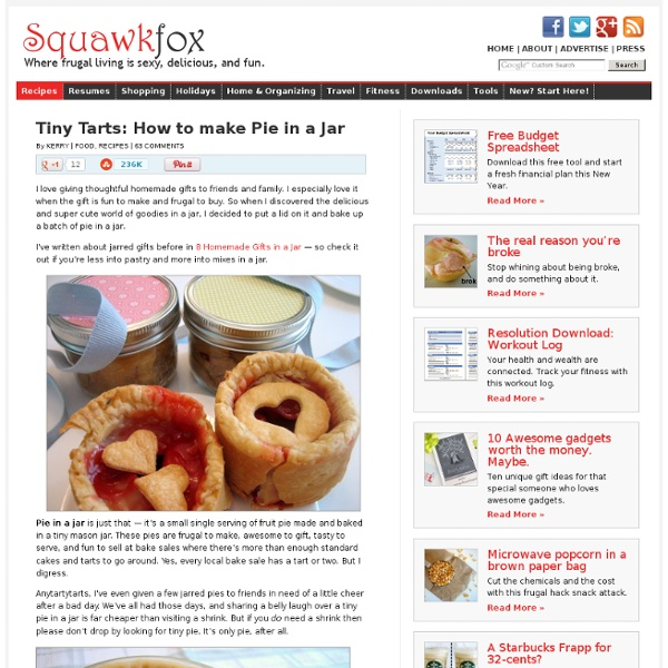 Tiny Tarts: How to make Pie in a Jar