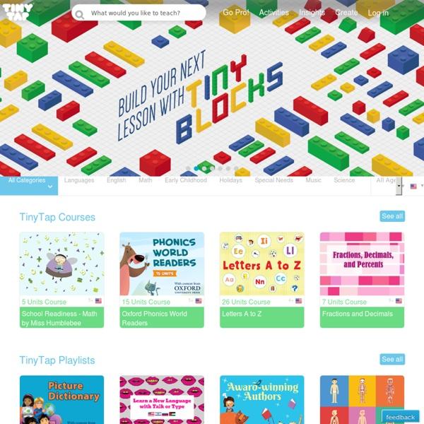 TinyTap - 製作互動遊戲的教學系統工具
