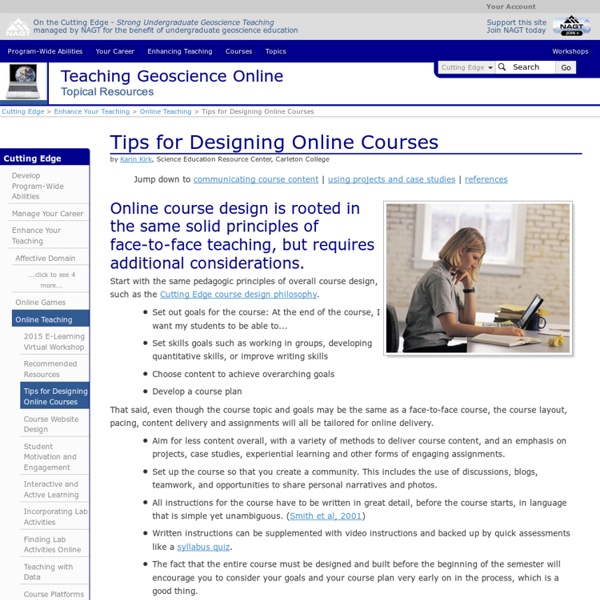 Tips for Designing Online Courses