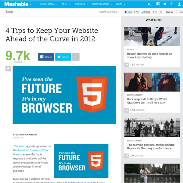 4 Tips to Keep Your Website Ahead of the Curve