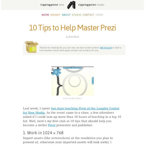 10 Tips to Help Master Prezi