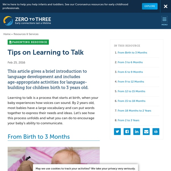 Tips on Learning to Talk