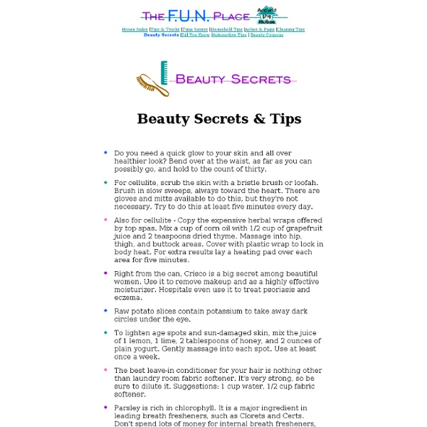 Tips & Tricks - Beauty Secrets