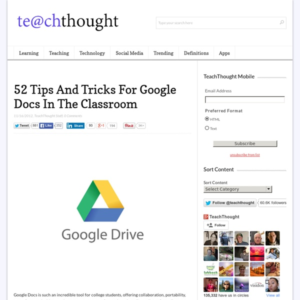 52 Tips And Tricks For Google Docs In The Classroom