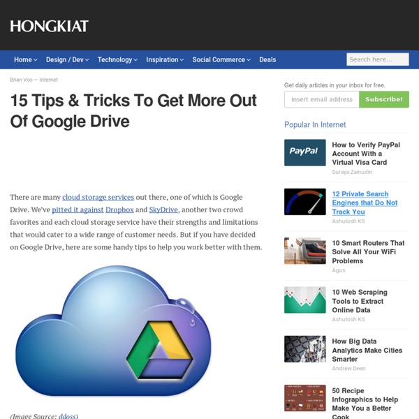 15 Tips & Tricks To Get More Out Of Google Drive - Hongkiat