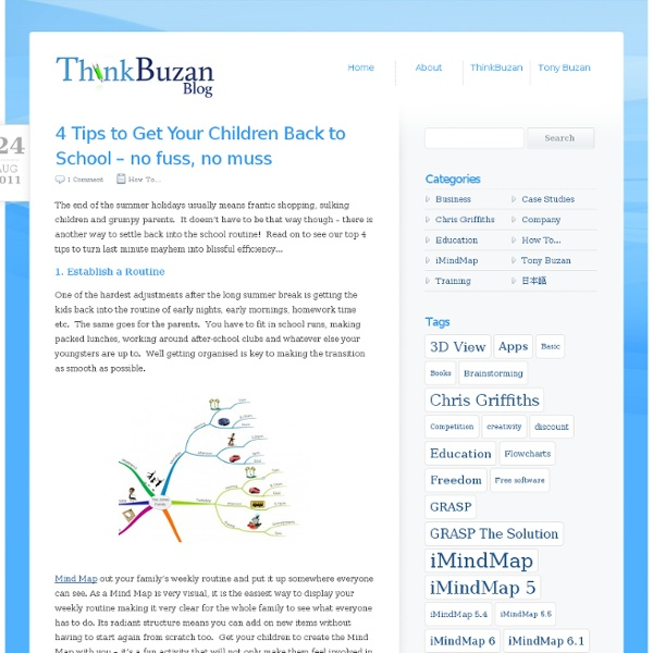4 Tips to Get Your Children Back to School – no fuss, no muss