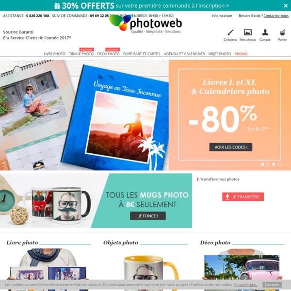 Livre photo, tirage photo et calendrier photo - Photoweb