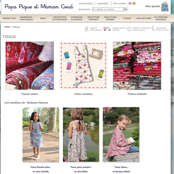 Tissu au mètre : achat de tissus coton et tissus enduits pour couture - PPMC
