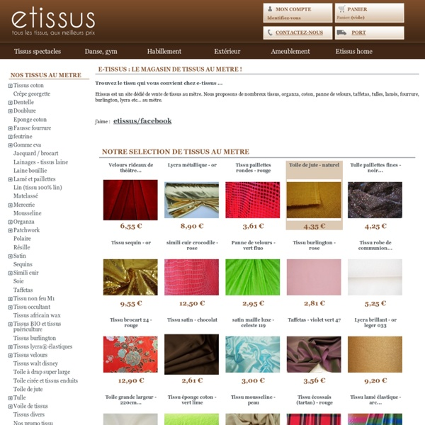 Tissus originaux pas cher maison design - Tissus portet sur garonne ...