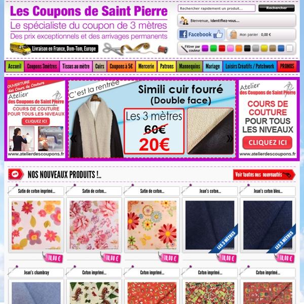 Tissus vente de tissus en coupon de 3 m tres tissu au m tre vente merce - Les tissus de saint pierre ...