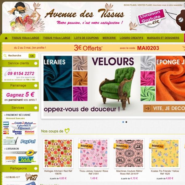 AVENUE des TISSUS - Boutique en ligne de tissus et mercerie