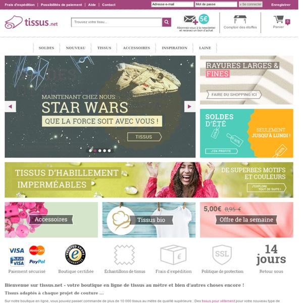 Au mètre en ligne en votre boutique en ligne pour tissus au mètre