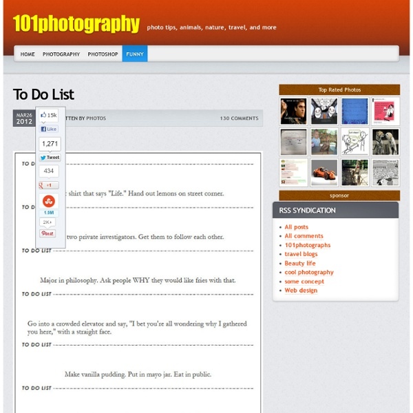 To Do List - 101photography