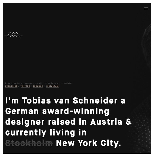 Tobias van Schneider is a multi-disciplinary art director & user interface designer from germany