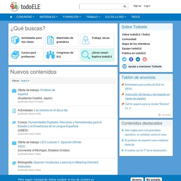 TodoEle.net - Página del profesor de español como lengua extranjera