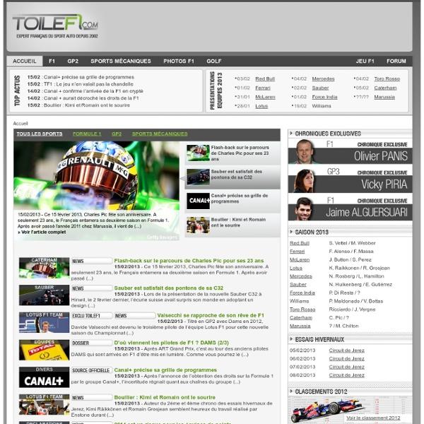 F1 : FORMULE 1 EN 2014 SUR ToileF1
