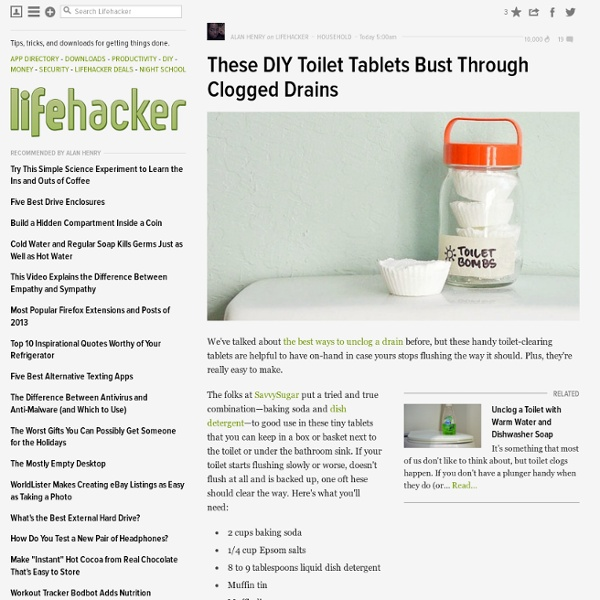 These DIY Toilet Tablets Bust Through Clogged Drains
