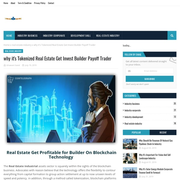 Why it's Tokenized Real Estate Get Invest Builder Payoff Trader