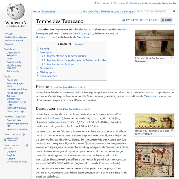 Tombe des Taureaux