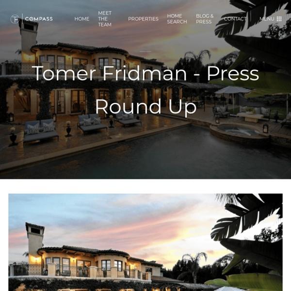 Tomer Fridman - Press Round Up