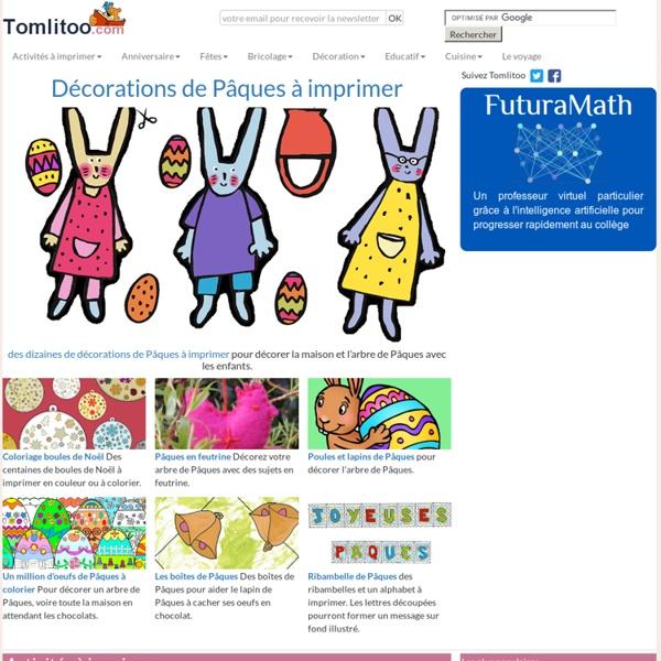 Pour les enfants - illustrations à découper